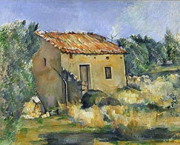 Abandoned House near Aix-en-Provence | Cezanne | Painting Reproduction