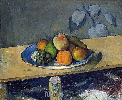 Apples, Peaches, Pears and Grapes, c.1879/80 | Cezanne| Painting Reproduction