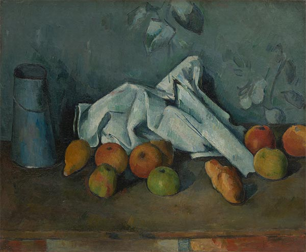 Still Life with Milk Can and Apples, c.1879/80 | Cezanne | Painting Reproduction