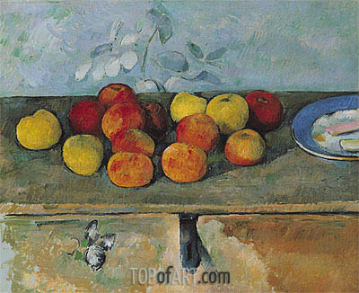 Apples and Biscuits, c.1879/82 | Cezanne | Gemälde Reproduktion