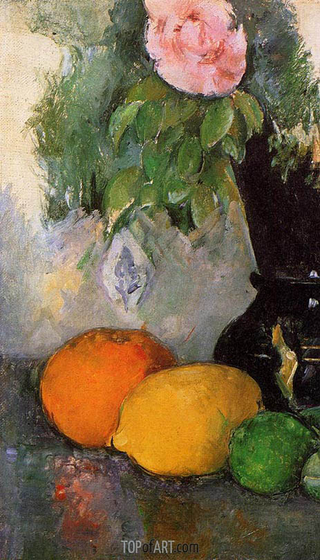 Cezanne | Flowers and Fruit, c.1880