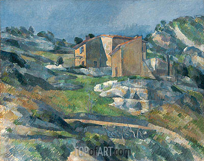 Houses in Provence the Riaux Valley near L'Estaque, c.1880 | Cezanne| Painting Reproduction