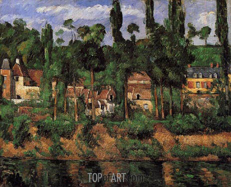The Chateau at Medan, c.1879/81 | Cezanne | Gemälde Reproduktion