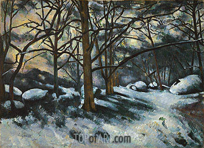 Melting Snow, Fontainebleau, c.1879/80 | Cezanne | Painting Reproduction