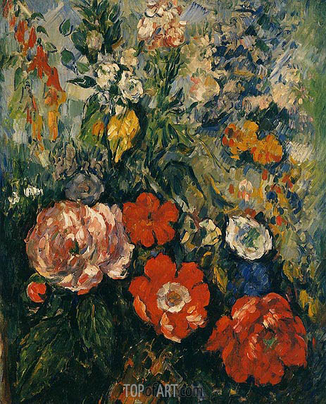 Bouquet of Flowers, c.1879/80 | Cezanne | Painting Reproduction