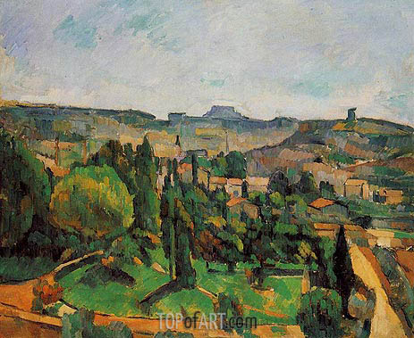 Ile de France Landscape, c.1879/80 | Cezanne | Painting Reproduction