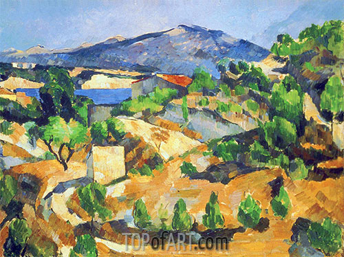 Cezanne | Mountains in Provence (L'Estaque), c.1879