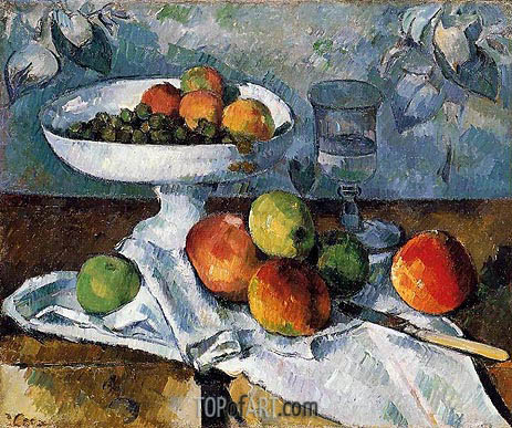 Still Life with Fruit Dish, c.1879/80 | Cezanne | Painting Reproduction