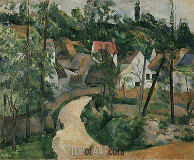 Turn in the Road, c.1881 | Cezanne | Painting Reproduction