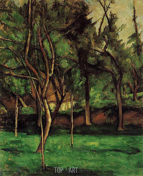 The Orchard, c.1882 | Cezanne | Painting Reproduction