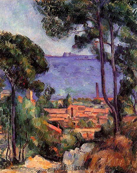 Cezanne | View through Trees, L'Estaque, c.1883/85