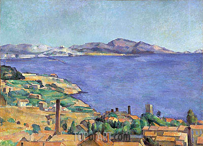 The Gulf of Marseilles Seen from L'Estaque, c.1885 | Cezanne | Painting Reproduction