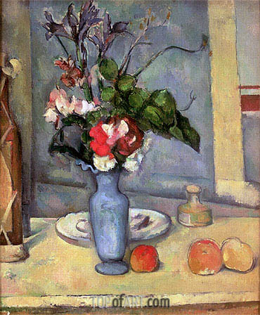 The Blue Vase Cezanne Painting Reproduction 635 Topofart