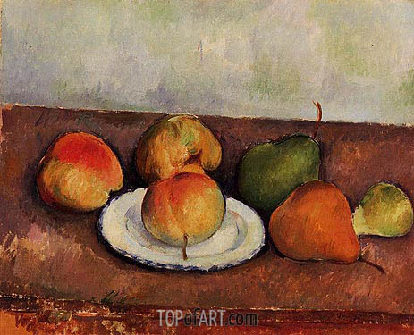 Cezanne | Still Life - Plate and Fruit, c.1888/90