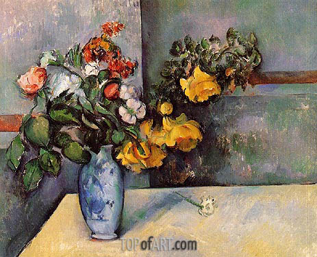 Still Life: Flowers in a Vase, c.1885/88 | Cezanne | Painting Reproduction
