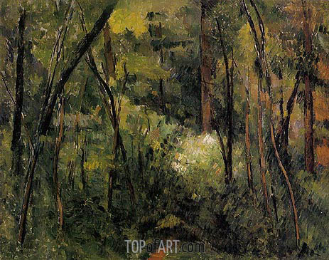 Cezanne | In the Woods, c.1885
