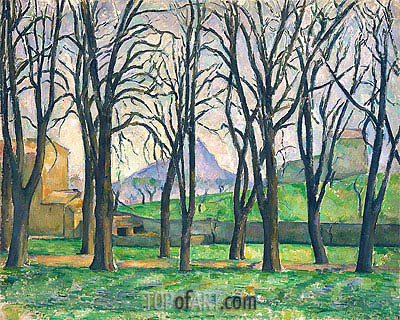 Chestnut Trees at Jas de Bouffan, c.1885/86 | Cezanne | Painting Reproduction