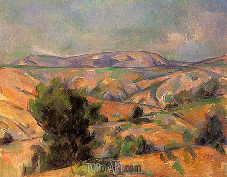 Mont Sainte-Victoire Seen from Gardanne, c.1885/86 | Cezanne | Painting Reproduction