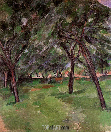 Orchard, c.1890 | Cezanne | Painting Reproduction
