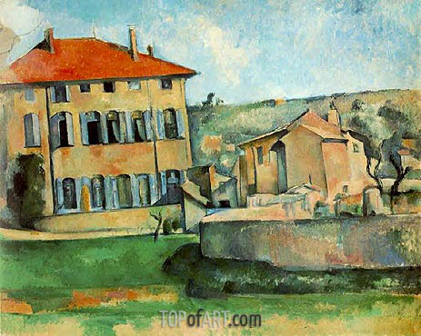 The Jas de Bouffan, c.1887 | Cezanne | Painting Reproduction