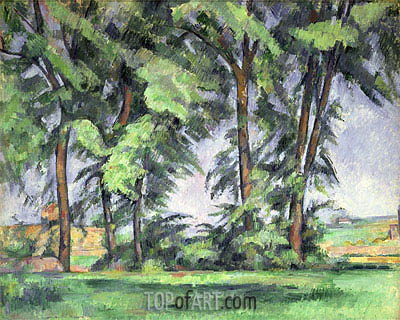 Tall Trees at the Jas de Bouffan, c.1883 | Cezanne| Gemälde Reproduktion