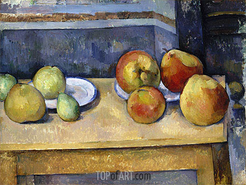 Still Life - Apples and Pears, c.1885/87 | Cezanne| Gemälde Reproduktion