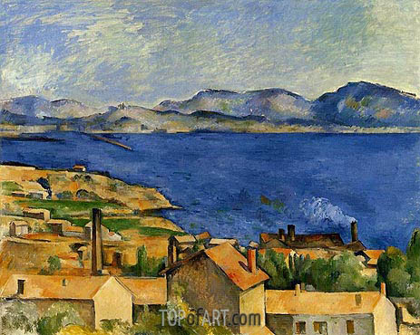 The Gulf of Marseille Seen from L'Estaque, c.1885 | Cezanne | Painting Reproduction