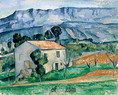 House in Provence, c.1886/90 | Cezanne | Painting Reproduction