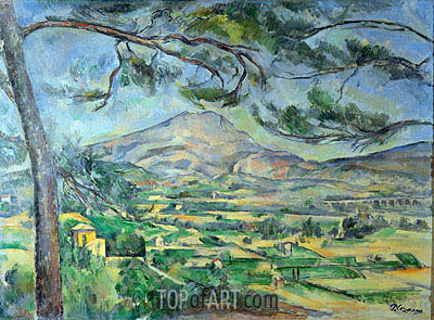 Mont Sainte-Victoire with Large Pine, c.1887 | Cezanne | Painting Reproduction