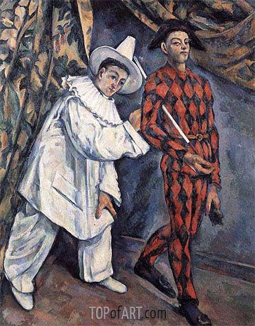 Cezanne | Pierrot and Harlequin (Mardi Gras), 1888