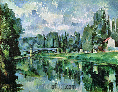 The Banks of the Marne at Creteil, c.1888 | Cezanne | Painting Reproduction