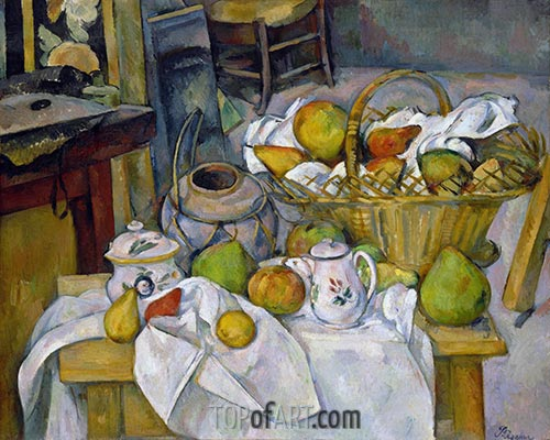 The Kitchen Table, c.1888/90 | Cezanne | Gemälde Reproduktion