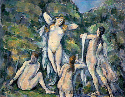 Four Bathers, c.1888/90 | Cezanne | Painting Reproduction