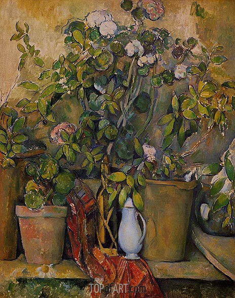 Potted Plants, c.1888/90 | Cezanne | Painting Reproduction