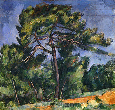 The Large Pine, c.1889 | Cezanne| Painting Reproduction
