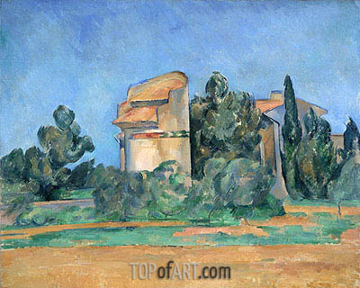 The Pigeon Tower at Bellevue, c.1894/96 | Cezanne | Painting Reproduction