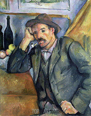 The Smoker, 1895 | Cezanne | Painting Reproduction
