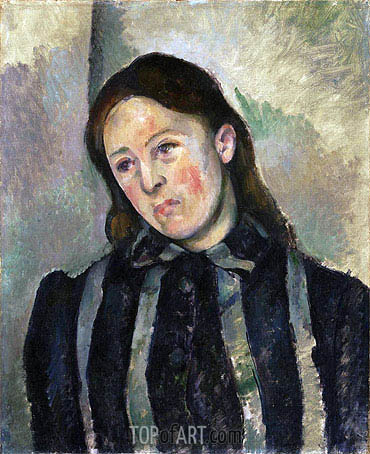 Madame Cezanne with Unbound Hair, c.1890/92 | Cezanne| Gemälde Reproduktion