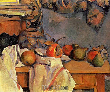 Still Life with Pomegranate and Pears, c.1890/93 | Cezanne | Painting Reproduction