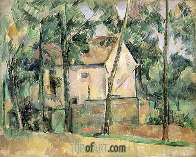 House and Trees, c.1890/94 | Cezanne | Gemälde Reproduktion