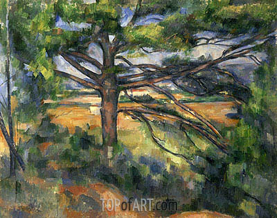Great Pine near Aix, c.1895/97 | Cezanne| Gemälde Reproduktion