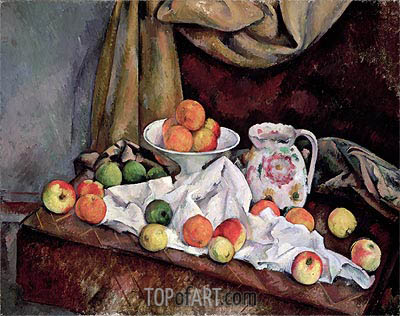 Compotier, Pitcher and Fruit, c.1892/94 | Cezanne | Painting Reproduction