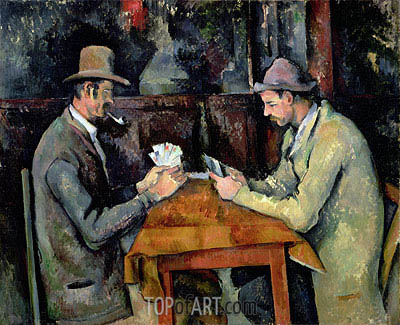 The Card Players, c.1893/96 | Cezanne | Painting Reproduction