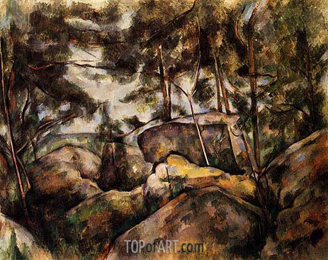 Cezanne | Rocks at Fountainebleau, c.1893