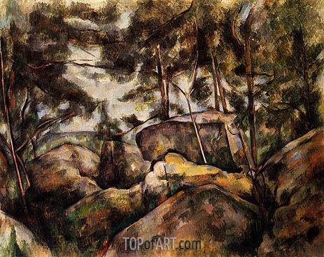 Cezanne | Felsen in Fontainebleau, c.1893