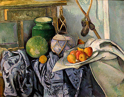 Still Life with a Ginger Jar and Eggplants, c.1890/94 | Cezanne| Painting Reproduction