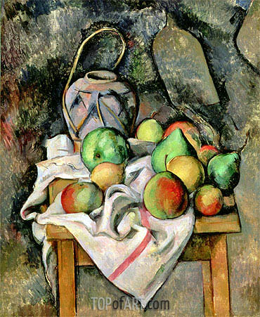 Ginger Jar and Fruit, 1895 | Cezanne | Gemälde Reproduktion