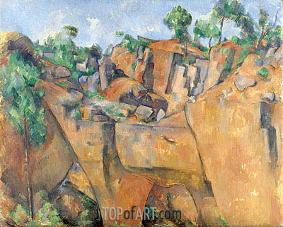 The Bibemus Quarry, c.1895 | Cezanne| Painting Reproduction