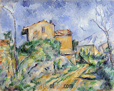 Maison Maria with a View of Chateau Noir, c.1895 | Cezanne | Gemälde Reproduktion