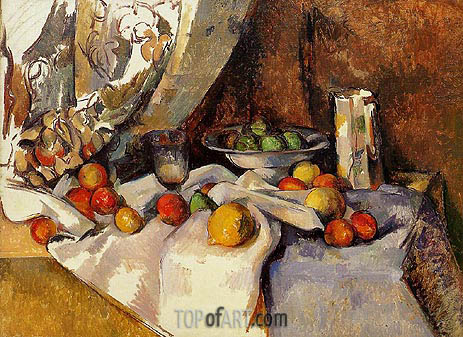 Still Life with Apples, c.1895/98 | Cezanne | Gemälde Reproduktion